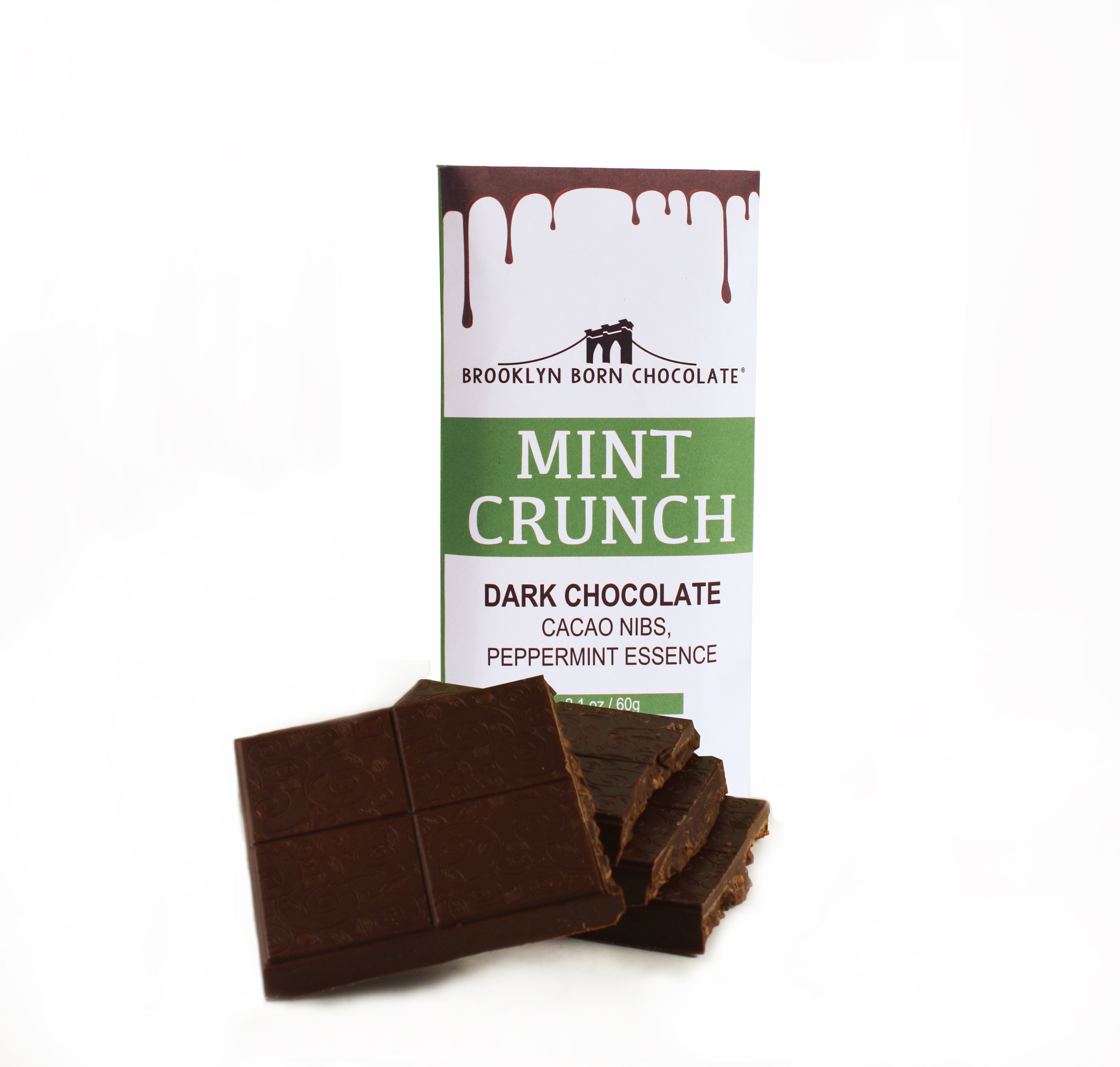 Mint Nib Crunch Chocolate Bar BRPN